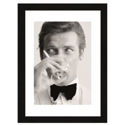 Wall Art Roger Moore, Shaken not Stirred