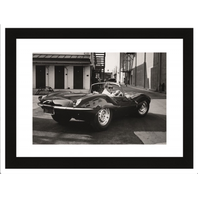 Wall Art Steve McQueen in Jaguar