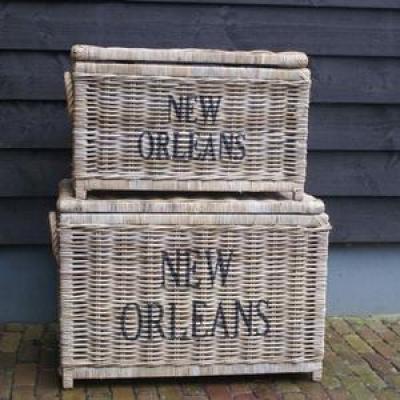 Koboo grey New Orleans opbergmand Large