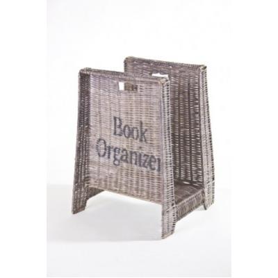 Rattan Book Organizer