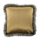 Kussen fluweel/ bont koper 45 x 45cm van € 21.95 voor € 16,50