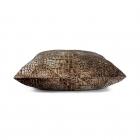 Kussen fluweel Croco bruin 45 x 45cm